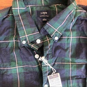 J. Crew heathered cotton button-down shirt NWT